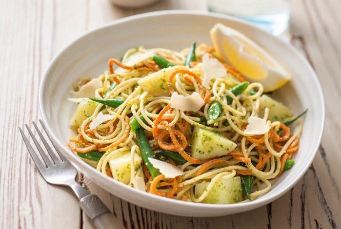 Spud Lite Potato Pesto Spaghetti with Green Beans