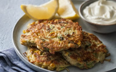 Potato, Salmon and Pea Fish Cakes