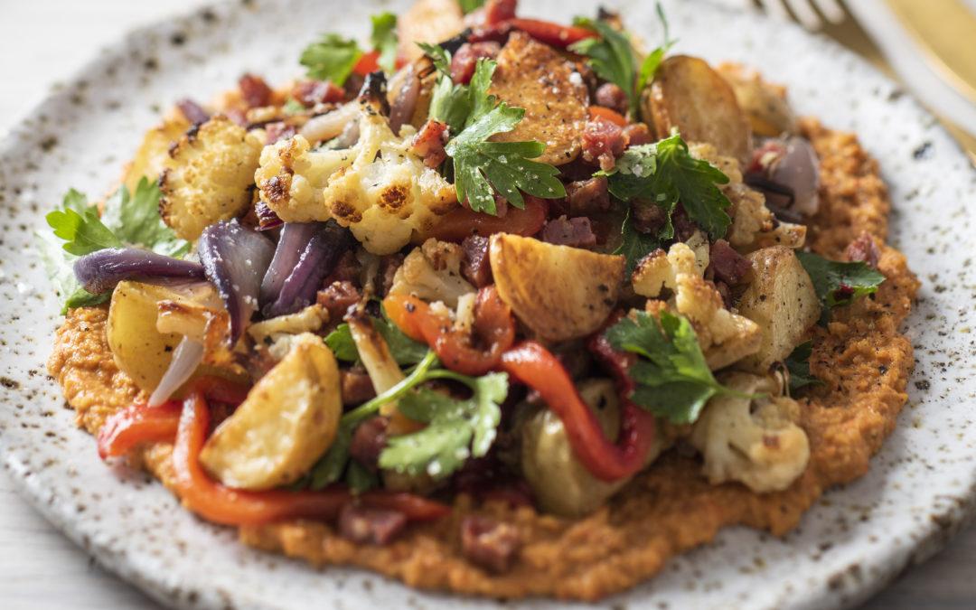 Potato and Romesco Salad with Cauliflower