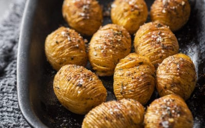 Quick Hasselback Roasted Potatoes