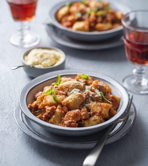 Potato Gnocchi with Sausage Ragu