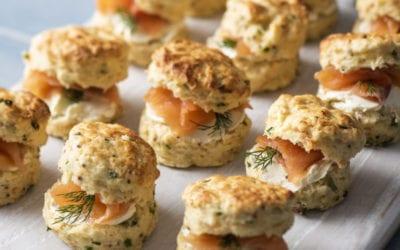 Potato, Smoked Salmon & Chive Scones