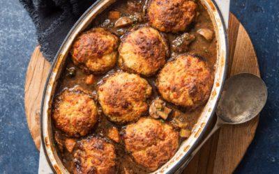 Beef & Stout Stew with Potato Dumplings