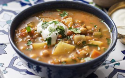 Moroccan Vegetable And Chickpea Soup